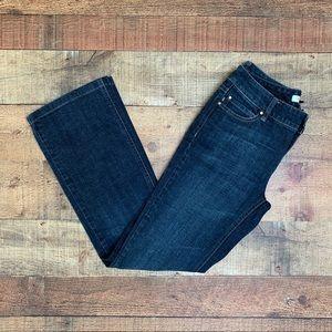 """WHBM Blanc Dark Wash Bootcut Jeans 29.5"""" Inseam"""